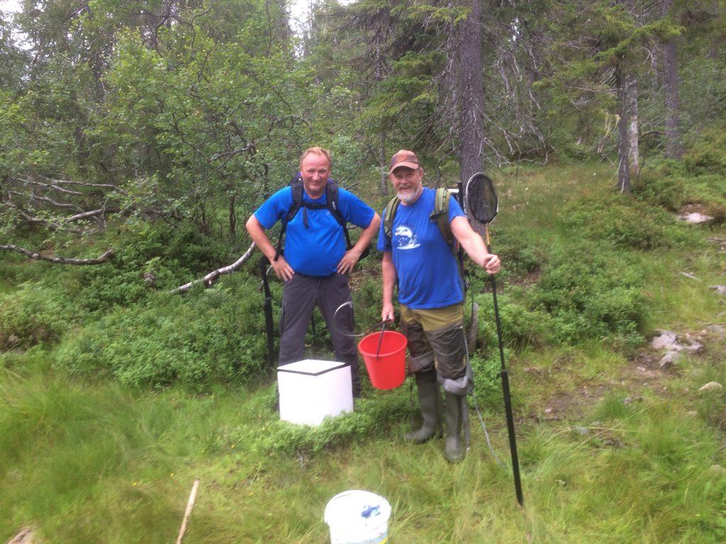 2 glade lakser. Bertil Bjørkli og Anton Rikstad